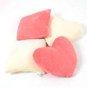 Home & Kitchen / Cushions / Fwaly Cushion Set - Square & Heart
