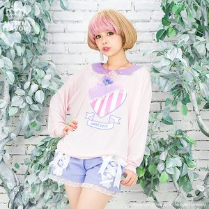 J-Fashion / Bottoms / LISTEN FLAVOR Angelic Lace-up Ribbon Shorts