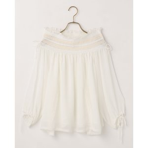 LIZ LISA Smocked Off-Shoulder Top