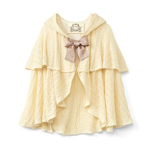 J-Fashion / Cardigans & Hoodies / SUKIYAKI Hooded Knit Cape
