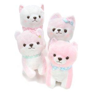 Mameshiba San Kyodai Fluffy Sakura-Colored Dog Plush Collection (Big)