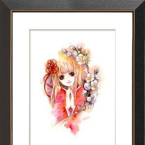 "Art Prints / Art Canvas Boards / ""Plum Branch"" Chara Fine Graph Print"