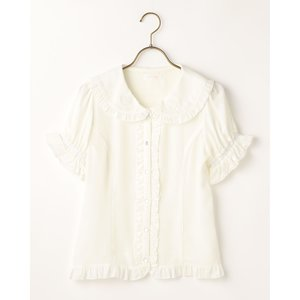 LIZ LISA Sheer Heart Collared Blouse