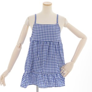 milklim Blue Gingham Check Camisole