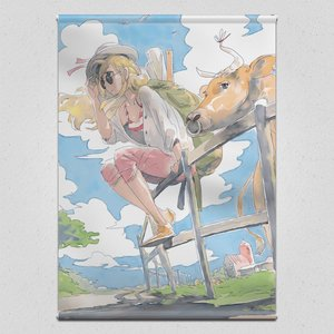 Cow Girl - A Country Road in the Beginning of Autumn Tapestry