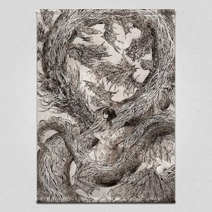 A Dragon and a Girl Tapestry