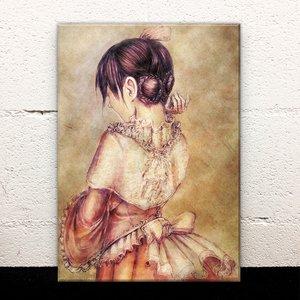 Girl in a Dress Acrylic Art Board