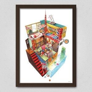 Retro Box World Poster