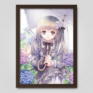 You and Hydrangea Poster