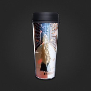 Library and Girl Tumblers