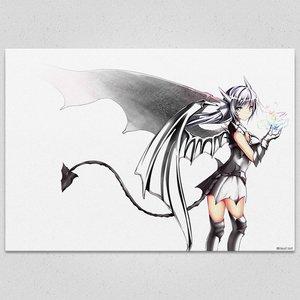 White-Devil Art Canvas Board