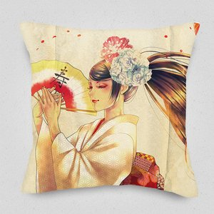 Fuku-Jyu Cushion Cover