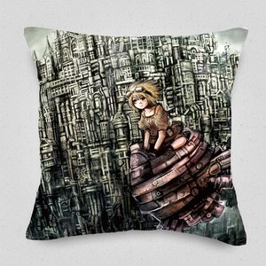 Steam Town Cushion Cover
