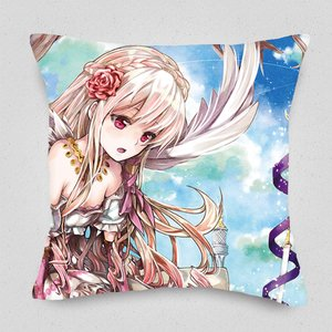 A Girl and a Baby Jackal Cushion Cover