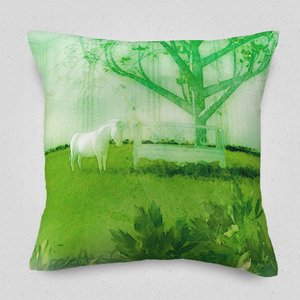 On a Peppermint-Green Morning Cushion Cover