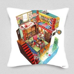 Retro Box World Cushion Cover