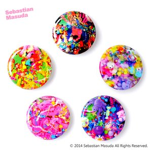 Sebastian.M Colorful Rebellion Seventh Nightmare Small Badges (Set of Five)