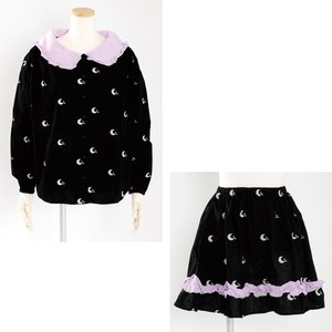 milklim Good Night Smock Blouse & Gathered Skirt Set