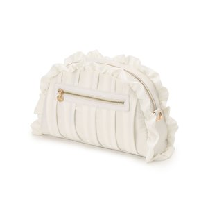 LIZ LISA Satin Frill Clutch Bag