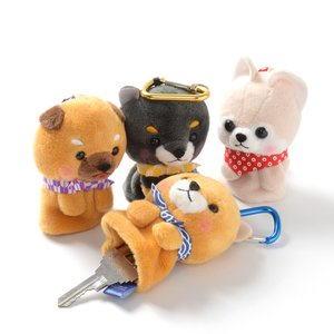 Plushies / Plushie Accessories / Mameshiba San Kyodai Dog Reel Key Cover Collection