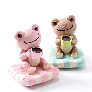 Pickles the Frog Craft Series Frog Coffee Statues