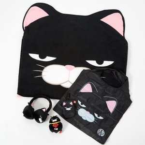 Home & Kitchen / Blankets / Plushies / Small Plushies / Plushie Accessories / Hige Manjyu Kuromame the Grumpy Black Cat Set