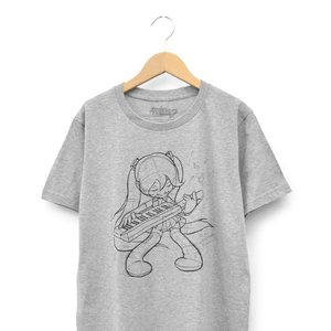 Otaku Apparel & Cosplay / Tops / Hatsune Miku The First Sound from Future T-Shirt (Heather Gray)