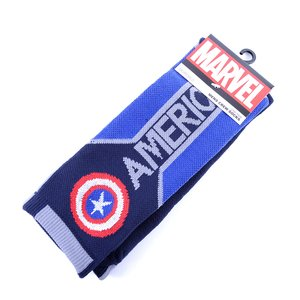 Marvel Captain America Text Active Crew Socks