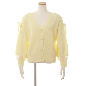 LIZ LISA Shoulder Ribbon Cardigan