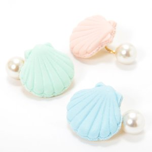 J-Fashion / Jewelry & Hair Accessories / Q-pot. Parlor Shell Macaron Pierced Earring