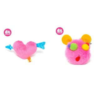 6%DOKIDOKI Fluffy Plush Clip & Brooch