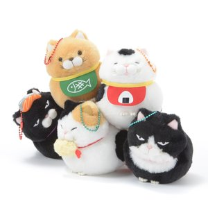 Plushies / Small Plushies / Hige Manjyu Gohan Cat Plush Collection (Ball Chain)