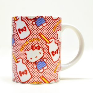 Home & Kitchen / Mugs & Glasses / Hello Kitty Holiday Collection Red Dots Ceramic Mug