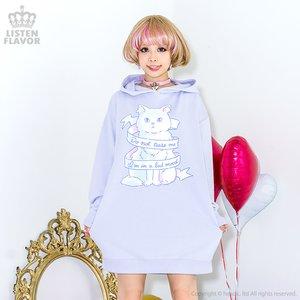 J-Fashion / Cardigans & Hoodies / LISTEN FLAVOR Ribbon Cat Dress Hoodie