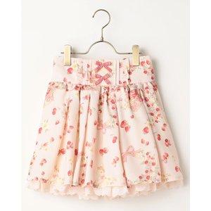 LIZ LISA Rabbit & Ribbon Print Sukapan Skirt