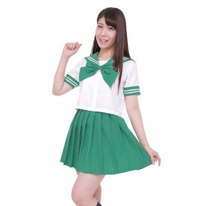 Otaku Apparel & Cosplay / Non-Character Cosplay / Color Sailor - Sailor Suit Cosplay Outfit (Green)