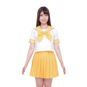 Otaku Apparel & Cosplay / Non-Character Cosplay / Color Sailor - Sailor Suit Cosplay Outfit (Yellow)