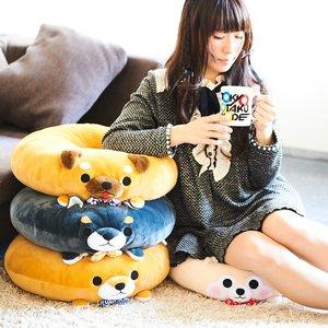 Mameshiba San Kyodai Dodeca Dog Donut Cushions