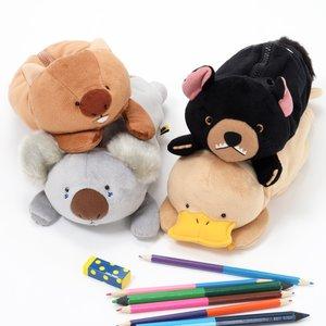 Wombat-san Tachi Big Pen Cases