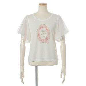 LIZ LISA Label Print T-Shirt
