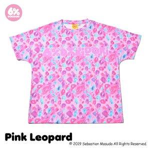 6%DOKIDOKI Colorful Rebellion Animal Pink Leopard T-Shirt