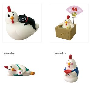 concombre New Year 2017 Chicken Figures