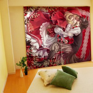 Home & Kitchen / Home Decor / Karu Illustrated Curtains - Little Red Riding Hood and Wolf