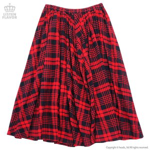 J-Fashion / Bottoms / LISTEN FLAVOR Checkered Maxi Skirt