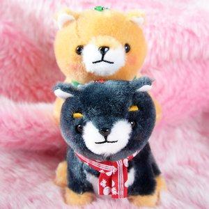 Mameshiba San Kyodai Tabi no Tochu Dog Plush Collection (Ball Chain)