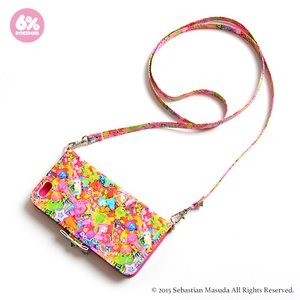 Stationery / Smartphone Cases / 6%DOKIDOKI Colorful Rebellion iPhone 6/6s Case w/ Shoulder Strap