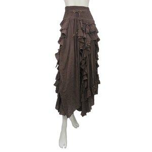 Ozz Oneste Damaged Gauze Long Skirt