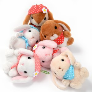 Plushies / Small Plushies / Pote Usa Loppy Zukin Rabbit Plush Collection (Ball Chain)