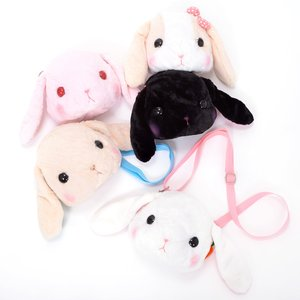 Otaku Apparel & Cosplay / Bags & Wallets / Plushies / Plushie Accessories / Pote Usa Loppy Big Face Pochettes