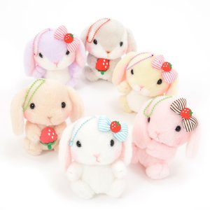 Plushies / Small Plushies / Pote Usa Loppy Strawberry Plush Collection (Ball Chain)